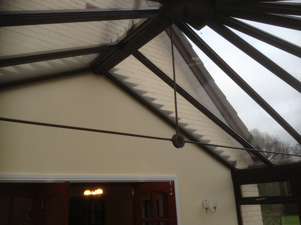 Flashing to a conservatory