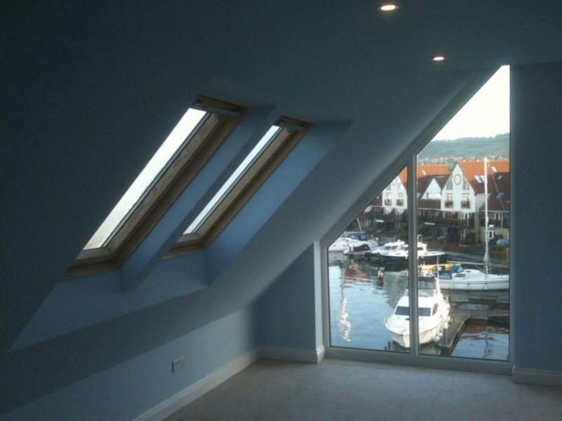 Glass gable window to a loft conversion
