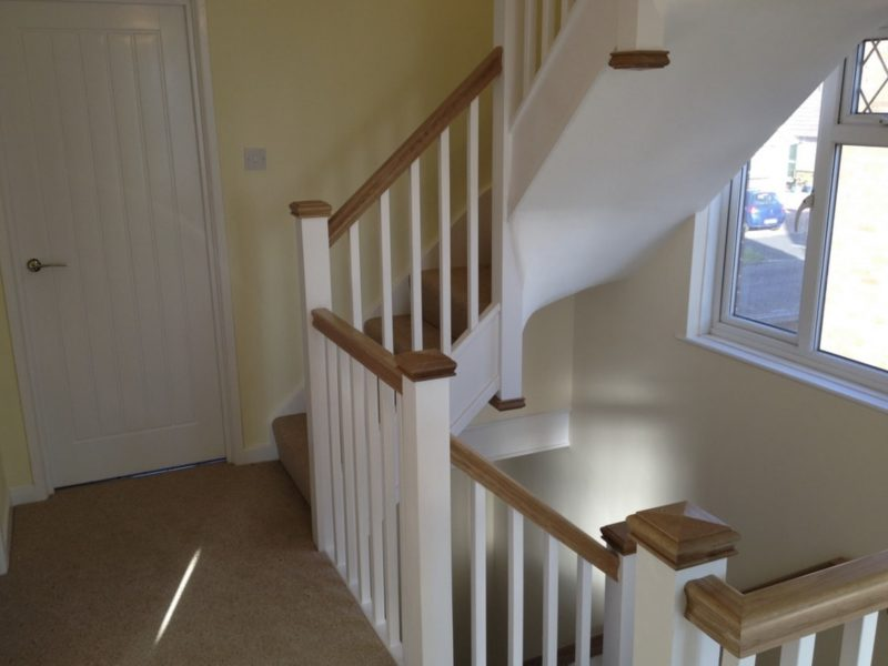 Staircase for a loft conversion oak handrail