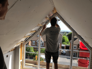 Loft conversion in Portsmouth, gable end wall, 1 bedroom with en-suite shower room-min