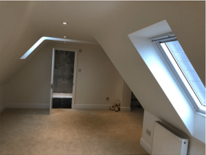 Bedroom extended to loft conversion in Cousins Grove, Southsea