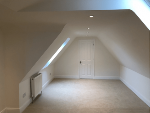 Cousins Grove Southsea. Completed loft conversion with walk in wardrobe in bedroom