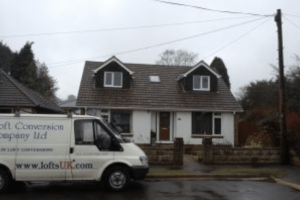 Loft conversion front dormer to bungalow in Portsmouth