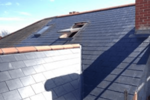 New slate roof to a loft conversion in Portsmouth with Velux windows