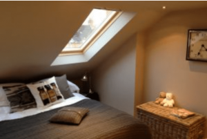 Velux window to front elevation to a loft conversion