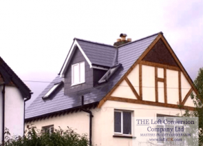 Side elevation pitched roof dormer designed to allow for staircase into loft conversion.