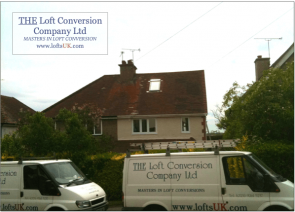A loft conversion to a semi-detached house with side elevation gable wall.