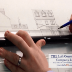Drawing of loft conversion in Portsmouth to a detached house.