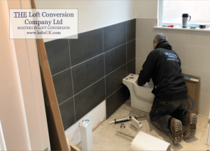 During the bathroom works of an en-suite bathroom to a loft conversion in Portsmouth