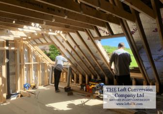Rear elation Velux windows to a loft conversion