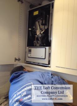 Installation of combination boiler The Loft Conversion Company (Portsmouth) Ltd