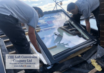 large loft conversion Velux window