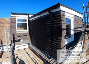 Rear elevation L-shaped dormer to a loft conversion