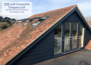 Project completed a bungalow with a glass gable construction and French doors with a stainless steel handrail, loft conversion in Portsmouth area.