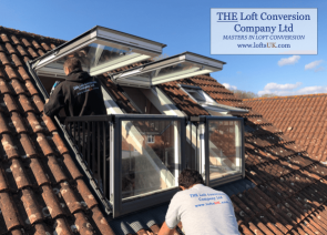 Velux Cabrio balcony installation to a loft conversion in Portsmouth