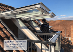Velux Cabrio balcony to a loft conversion in Portsmouth