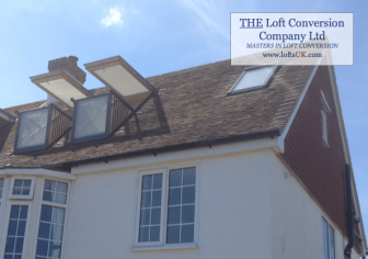 Velux Cabrio balcony to front elevation of a loft conversion in Portsmouth area.