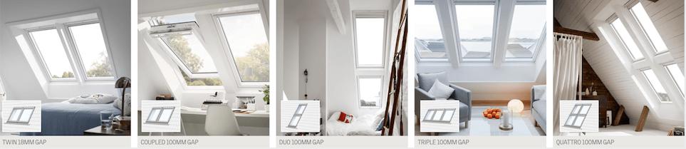 Velux windows combinations.