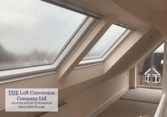 Interior loft conversion velux window